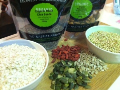homemade muesli ingredients