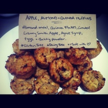 Quinoa Almond Muffins with Apple